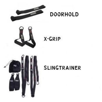 Pakke: Slingtrainer, doorhold og x-grip
